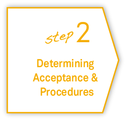 step2 Determining Acceptance & Procedures